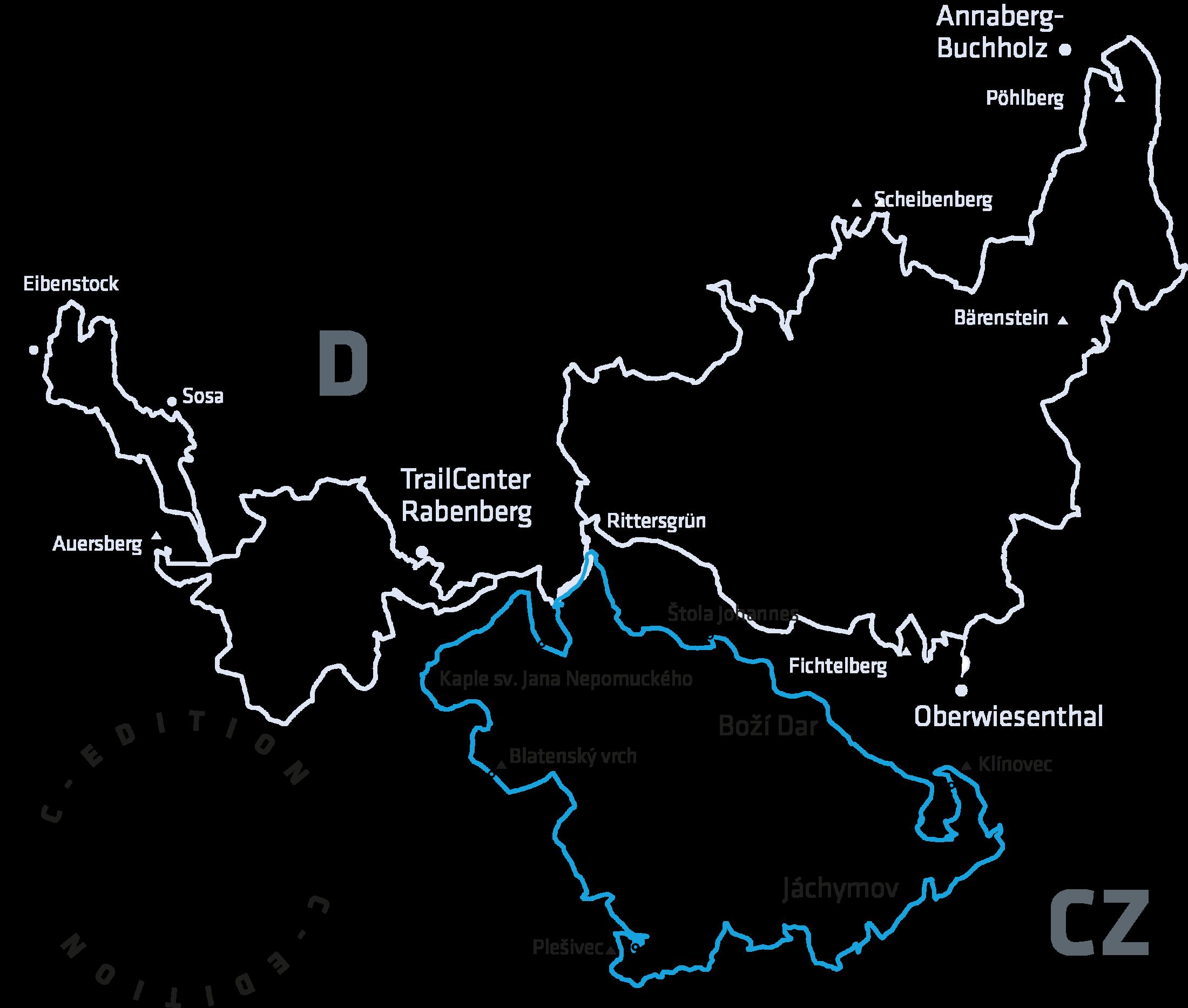 70 km und 2.000 Höhenmeter auf dem CZ-Loop des Stoneman Miriquidi Mountainbike im Erzgebirge.