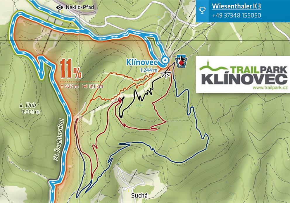 Alternative Abfahrt über den Trail-Park Klínovec.