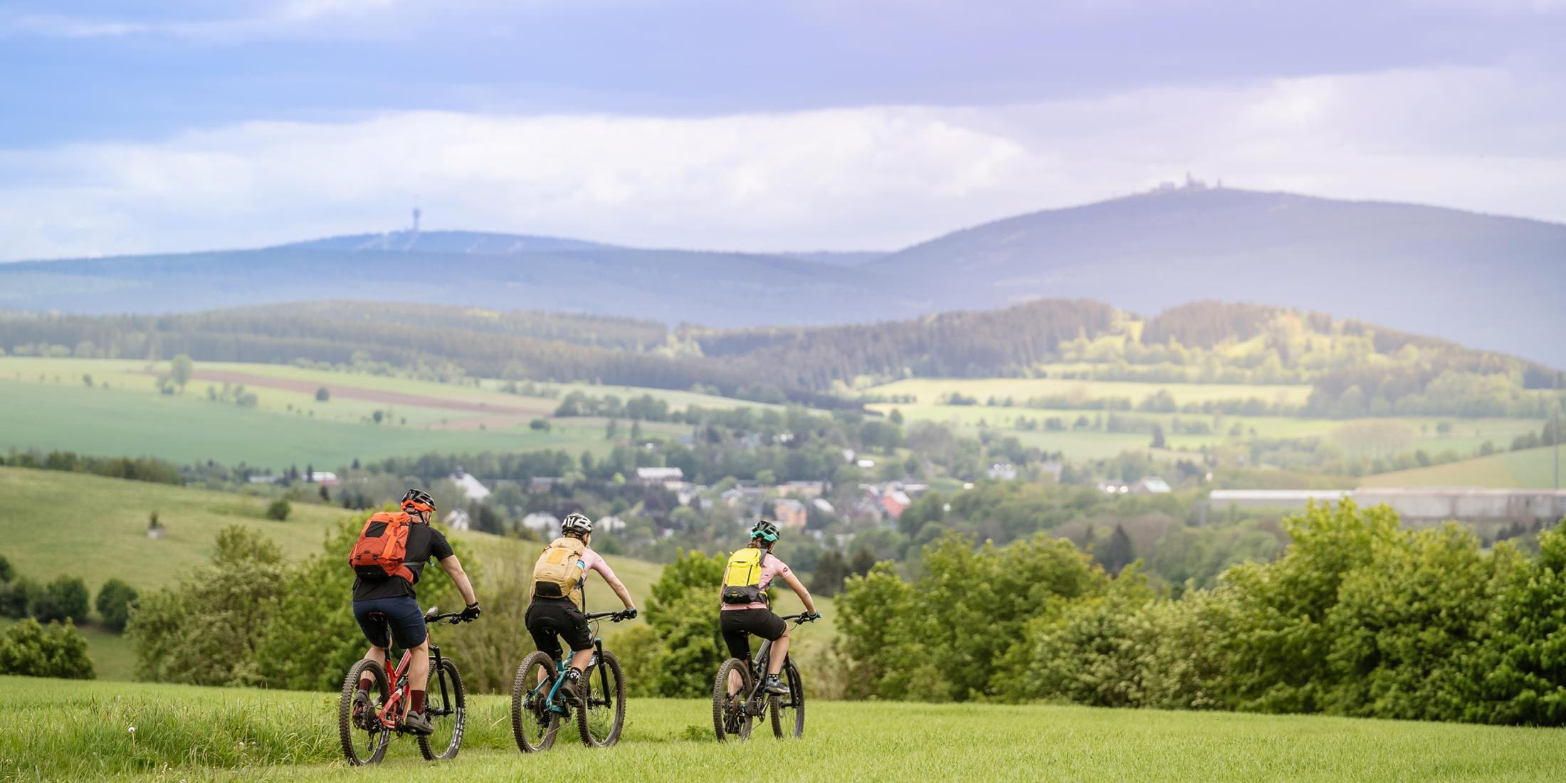 Stoneman Miriquidi Mountainbike MTB Erzgebirge Blick